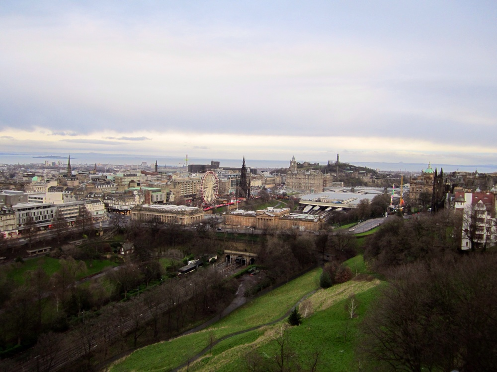 View of the city from Edinburgh Castle