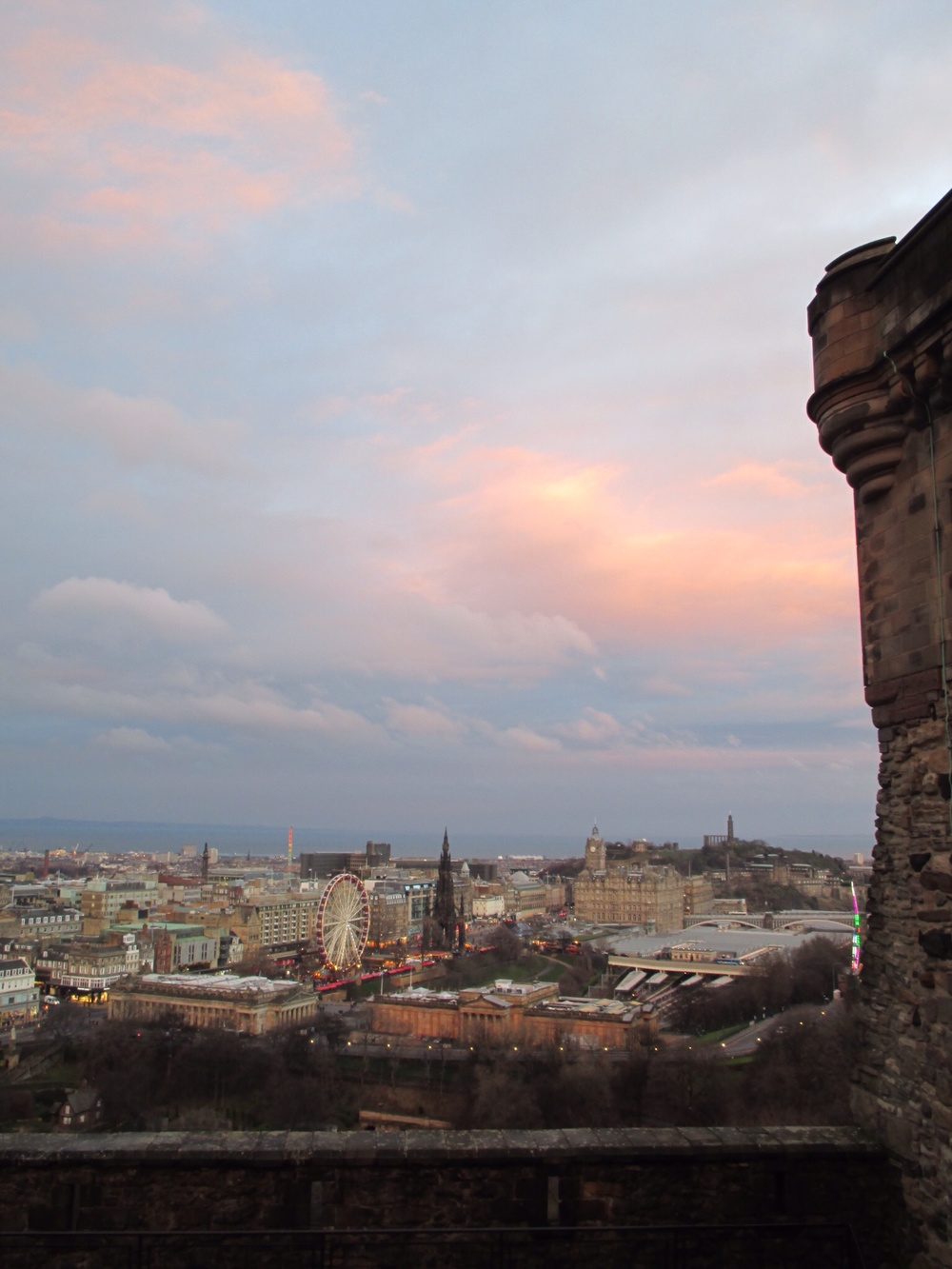 Sunset from Edinburgh Castle