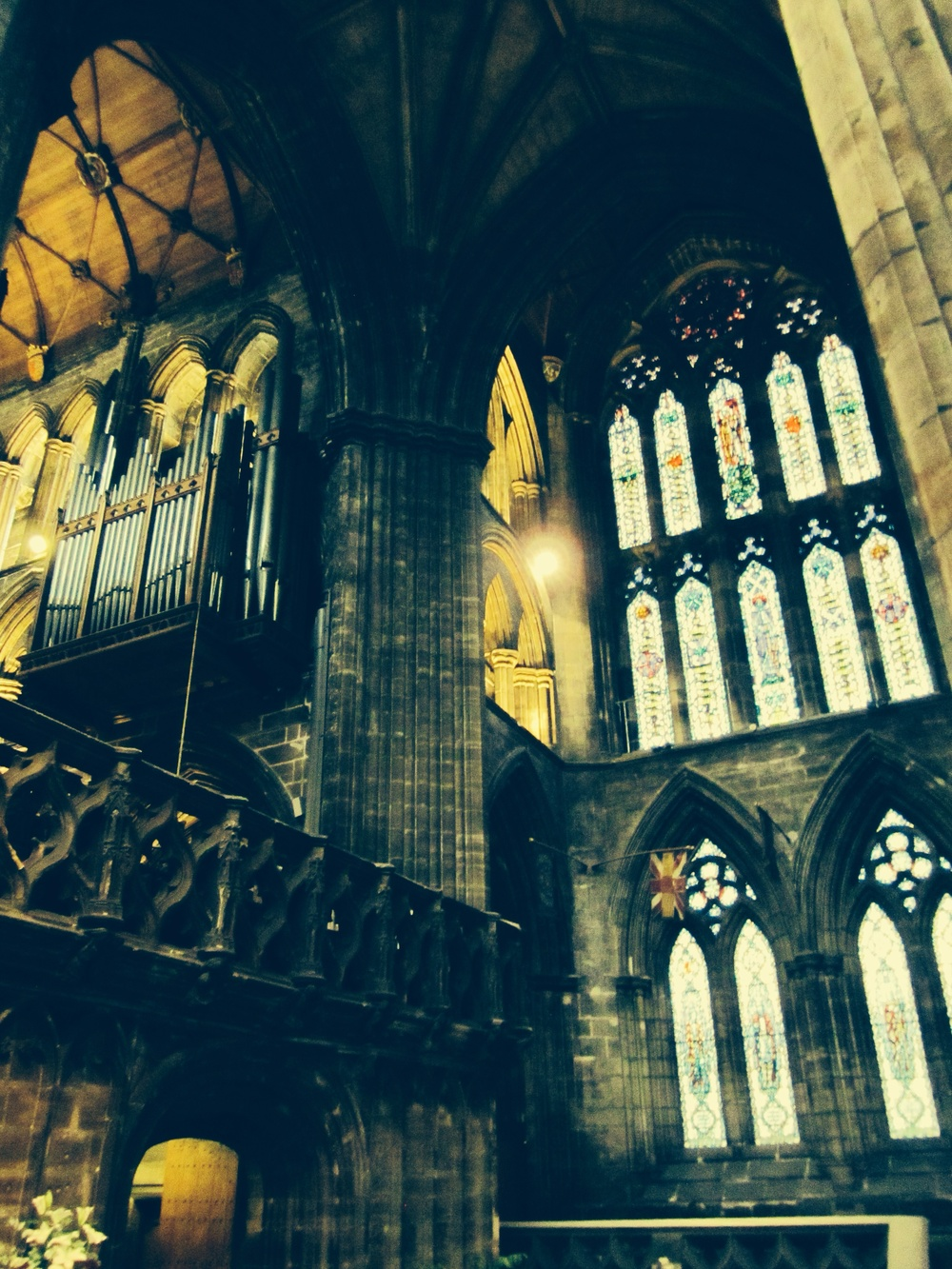 The Glasgow Cathedral was the only Scottish church to survive the Reformation intact. It's also called St Mungo's Cathedral. John Knox, father of the Protestant Reformation, is buried here.