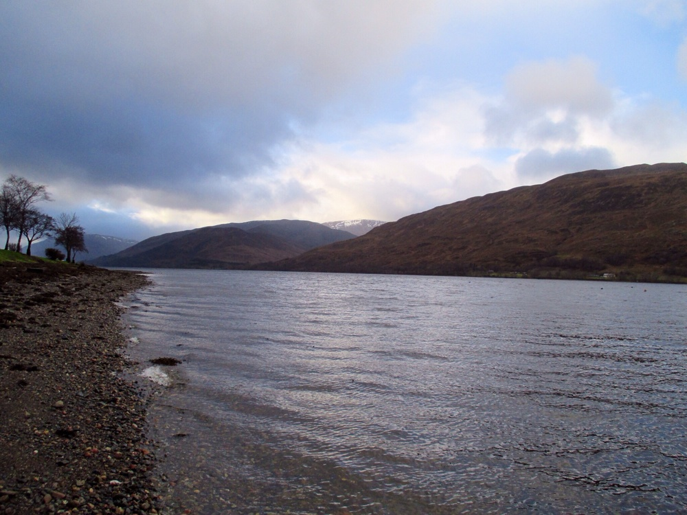 Loch Linnhe across from the Ardlinnhe Bed and Breakfast