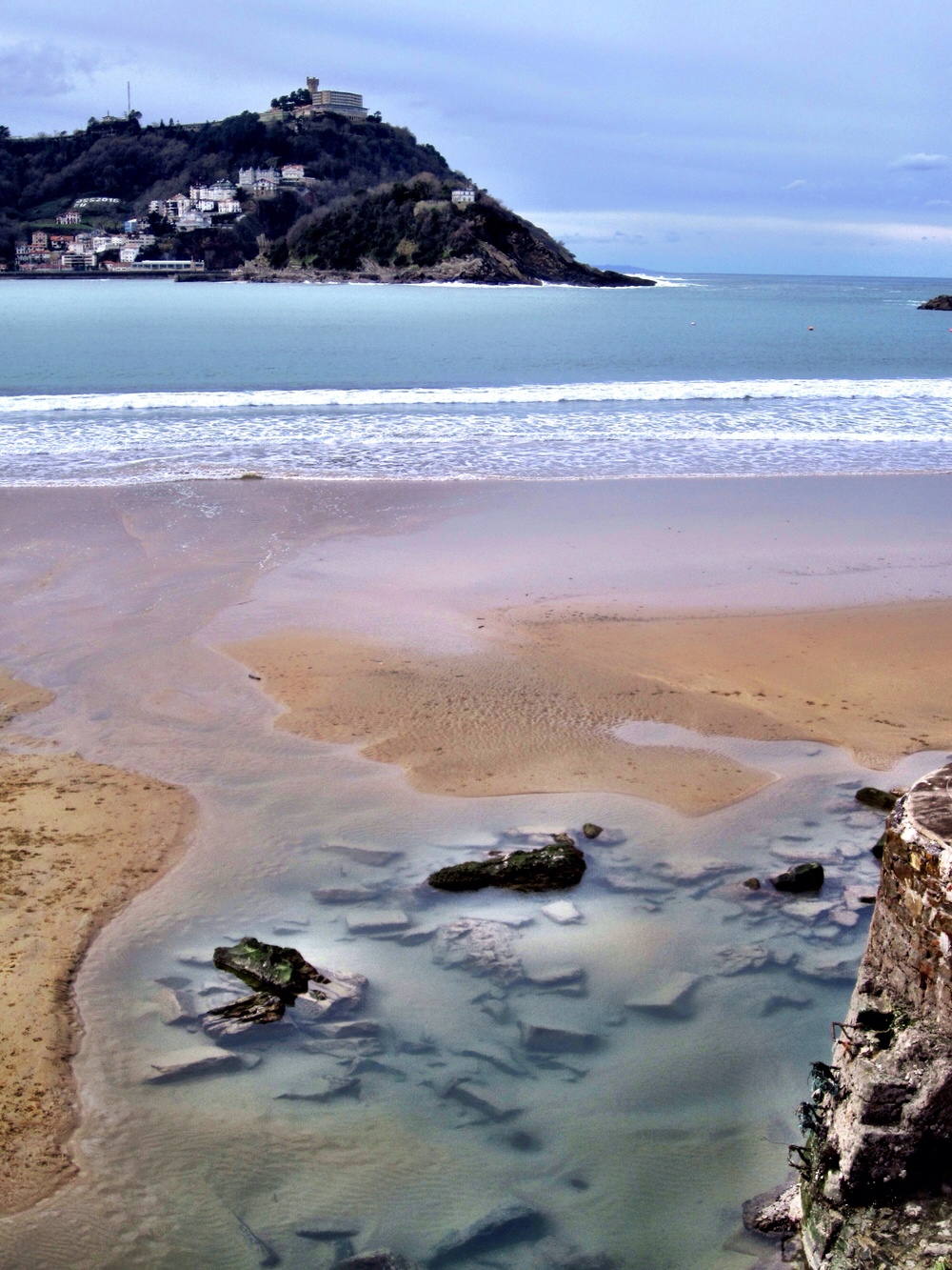 The beach at San Sebastián