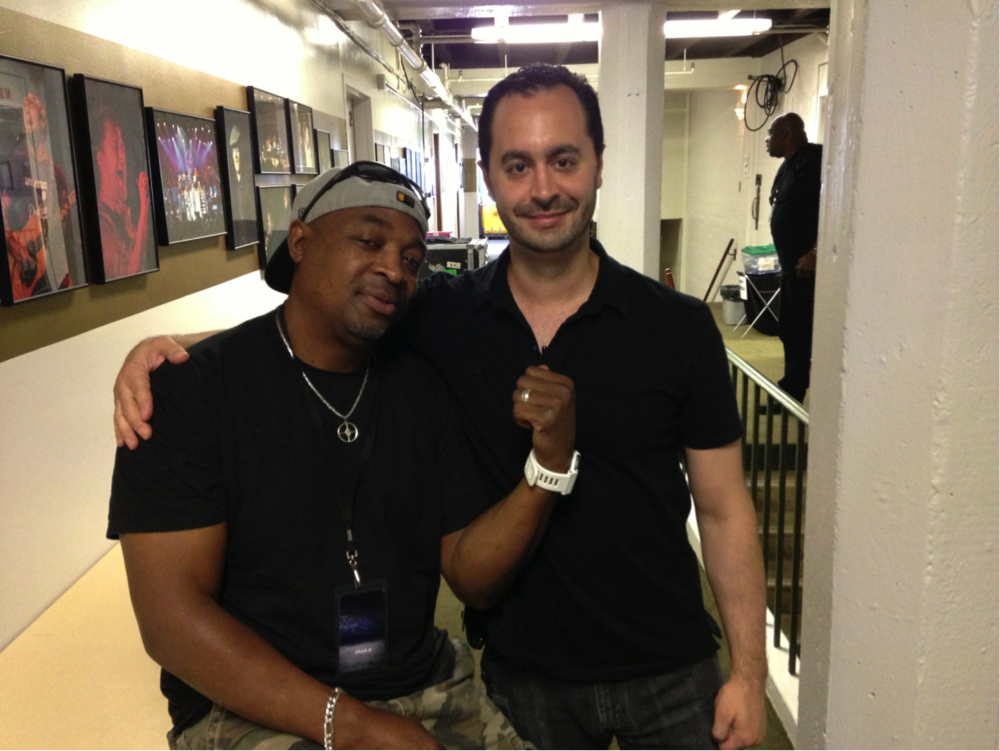 Joe on the road with Chuck D