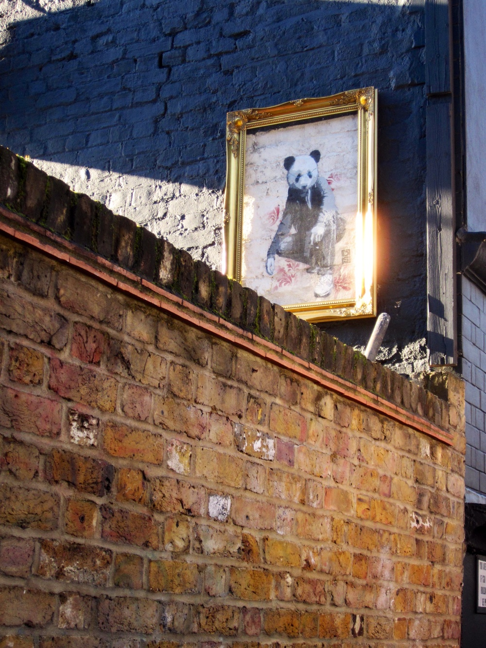 DS Framed Panda in London Shoreditch