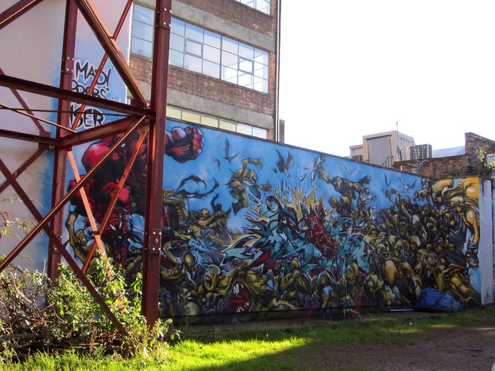 Wall in London Shoreditch