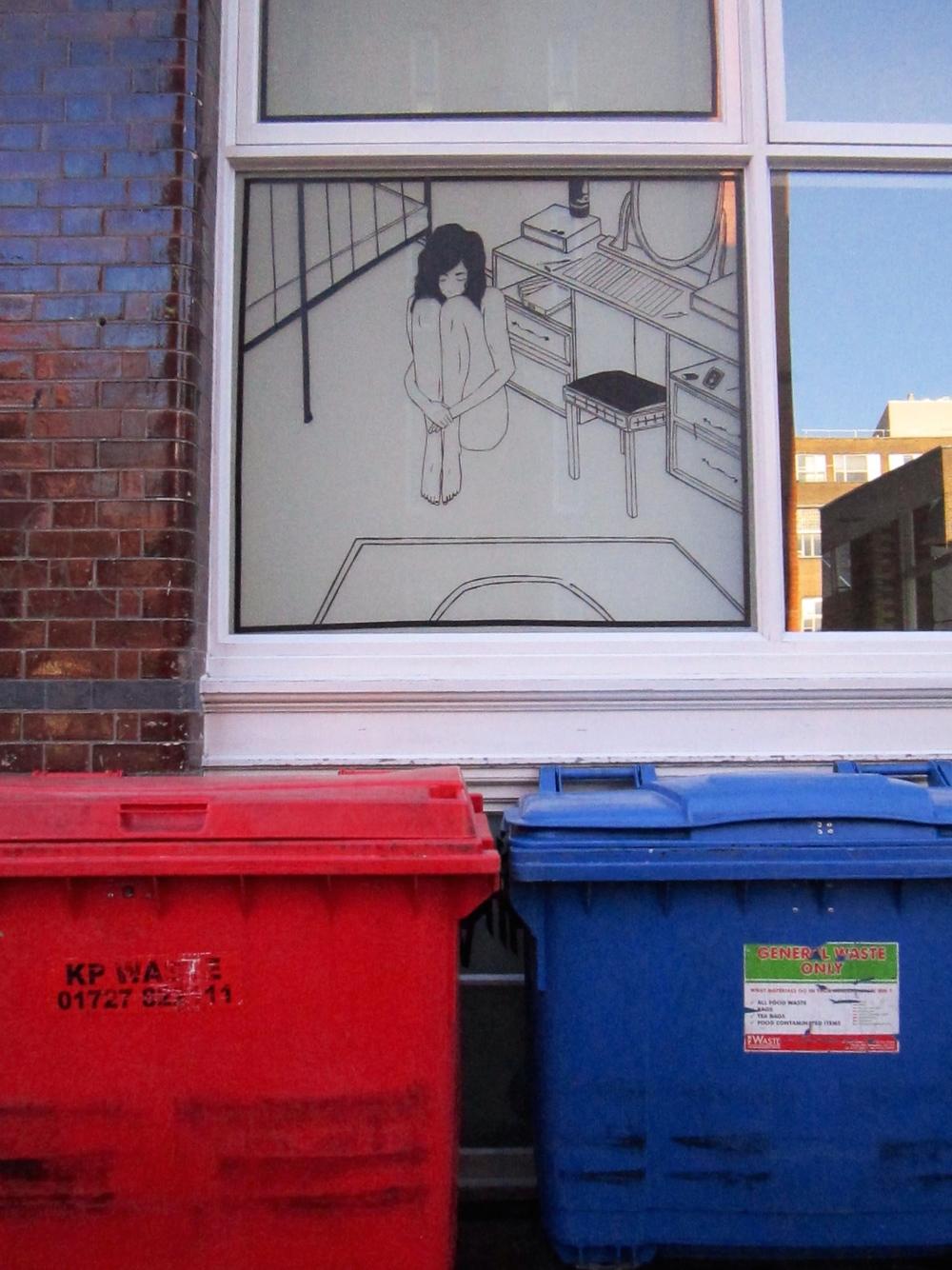 BENJAMIN MURPHY Tape Art in London Shoreditch