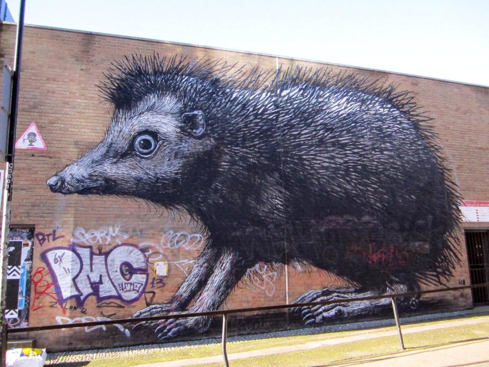 ROA Hedgehog in London Shoreditch