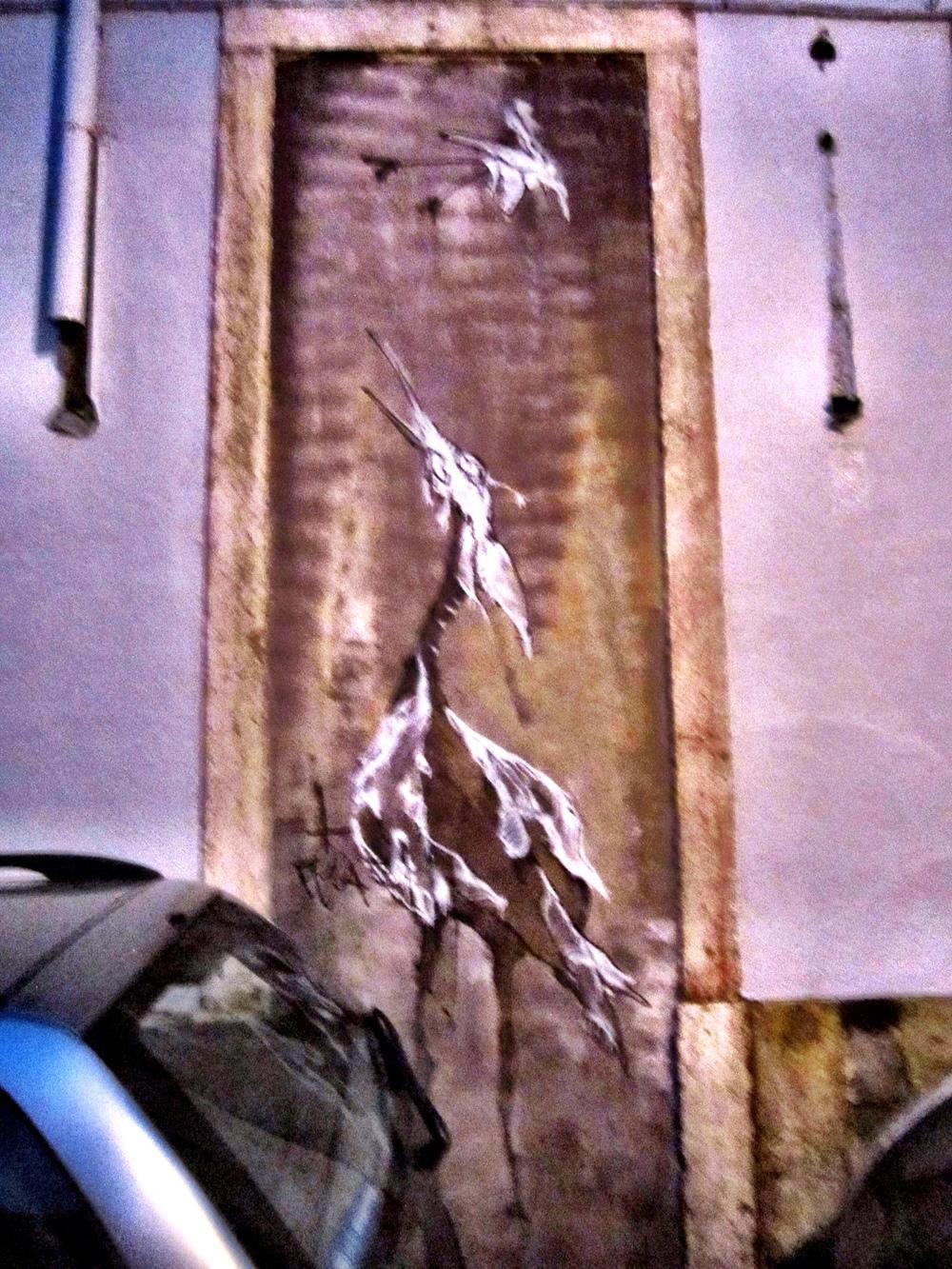 Awkward Bird Lisbon Street Art