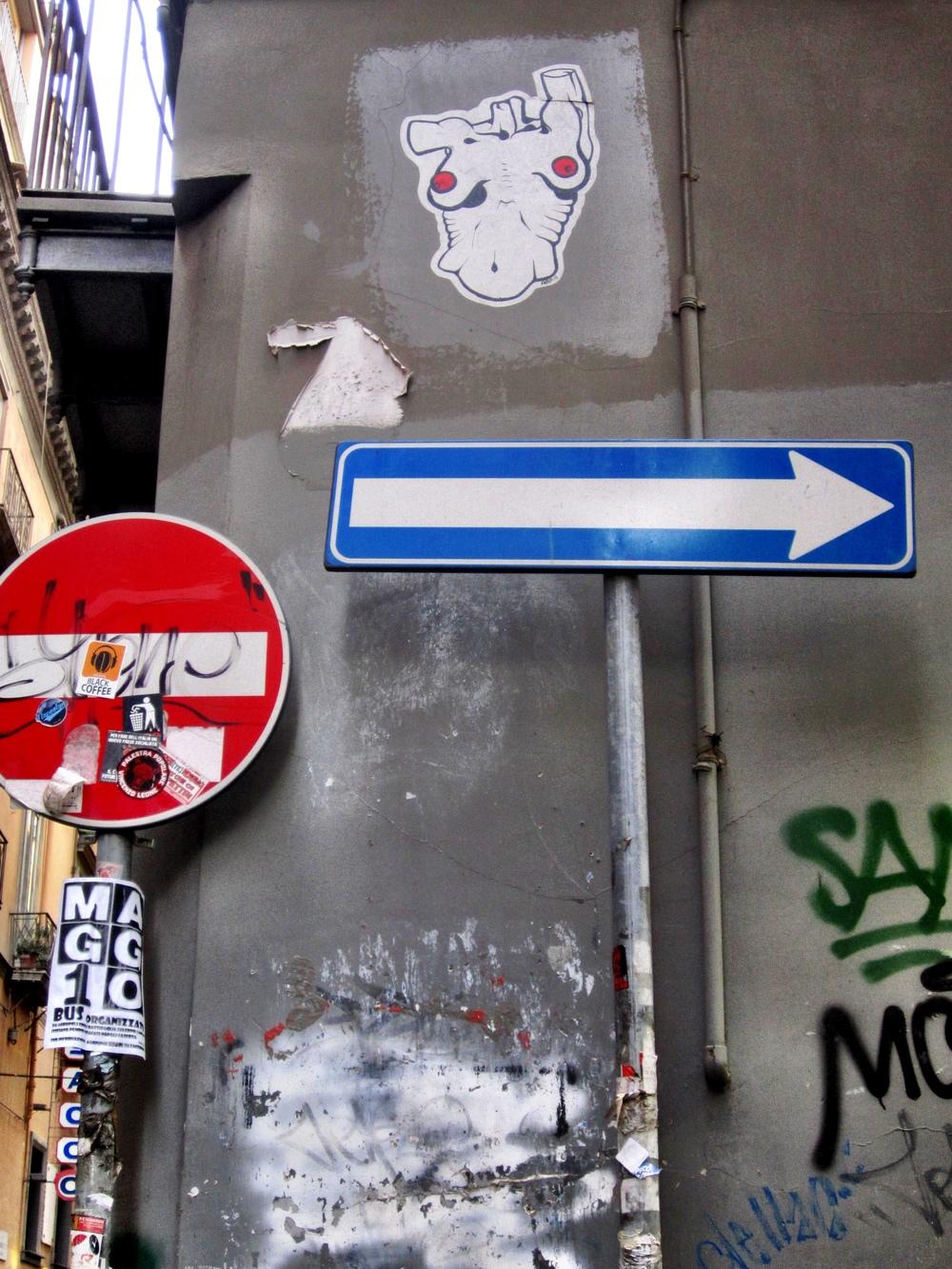 ARP Torso Naples Street Art