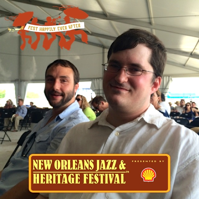 Jazz Fest with brother New Orleans