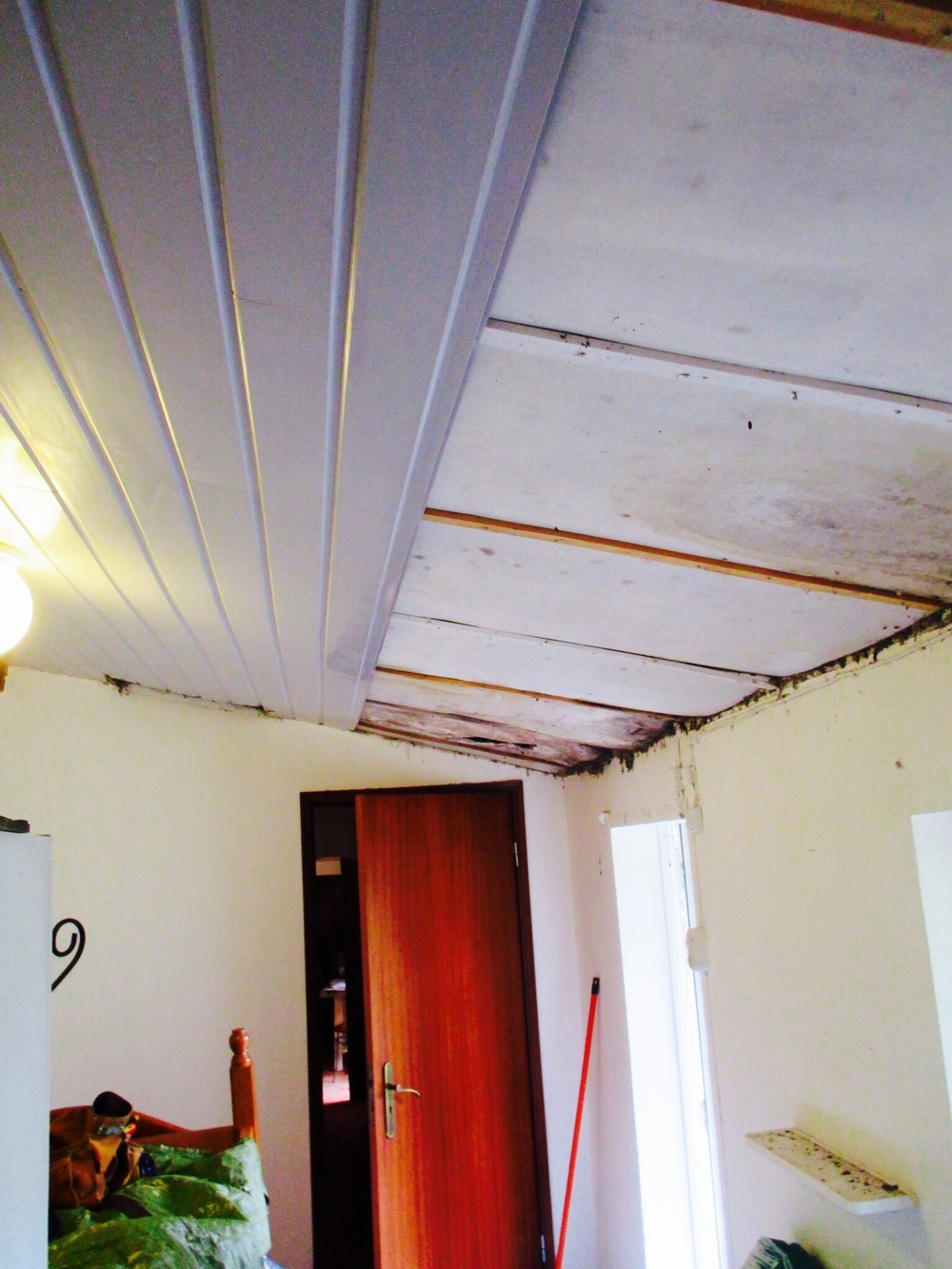 """The """"before"""" picture of the room where we were replacing the ceiling."""