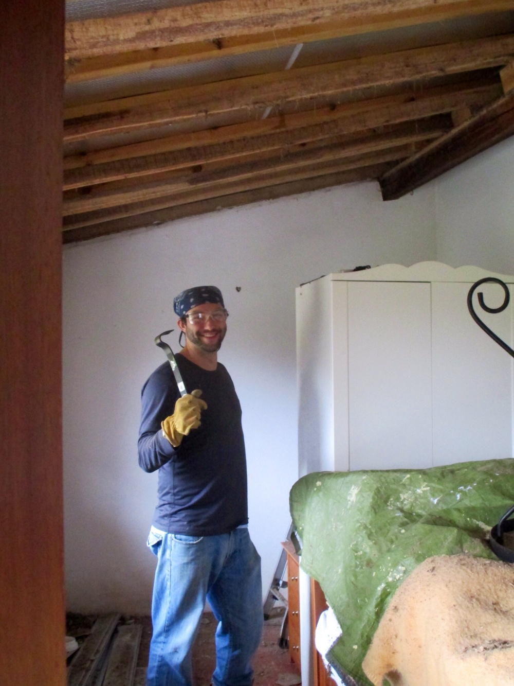 The demolition phase, while very dirty, helped relieve some of the stress of the project.