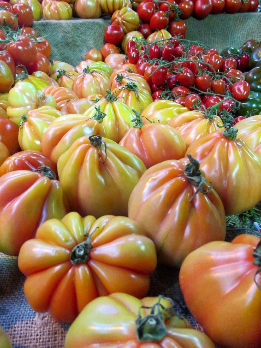 The breathtaking heirloom tomato display at London's Borough Market