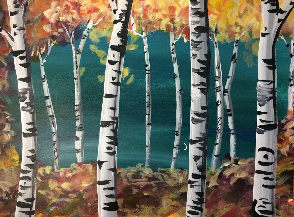 The painting selected for this event. Aspen Forest