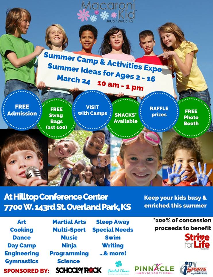 Find out more about our Painting Summer Camp at the Kids expo on March 24th or just call us 4 more details 913-730-6833