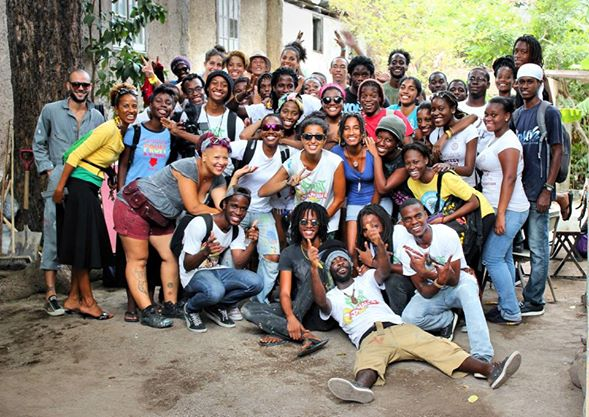 PAINT JAMAICA LOVE!! In Life Yard-Urban Farm - photo by Matthew Henry