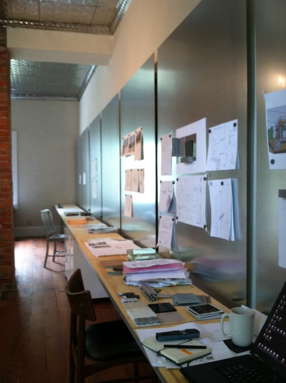 Shift Design Studio's 30' long work table.