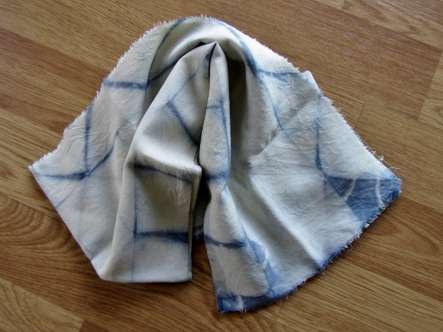 woad dyed silk