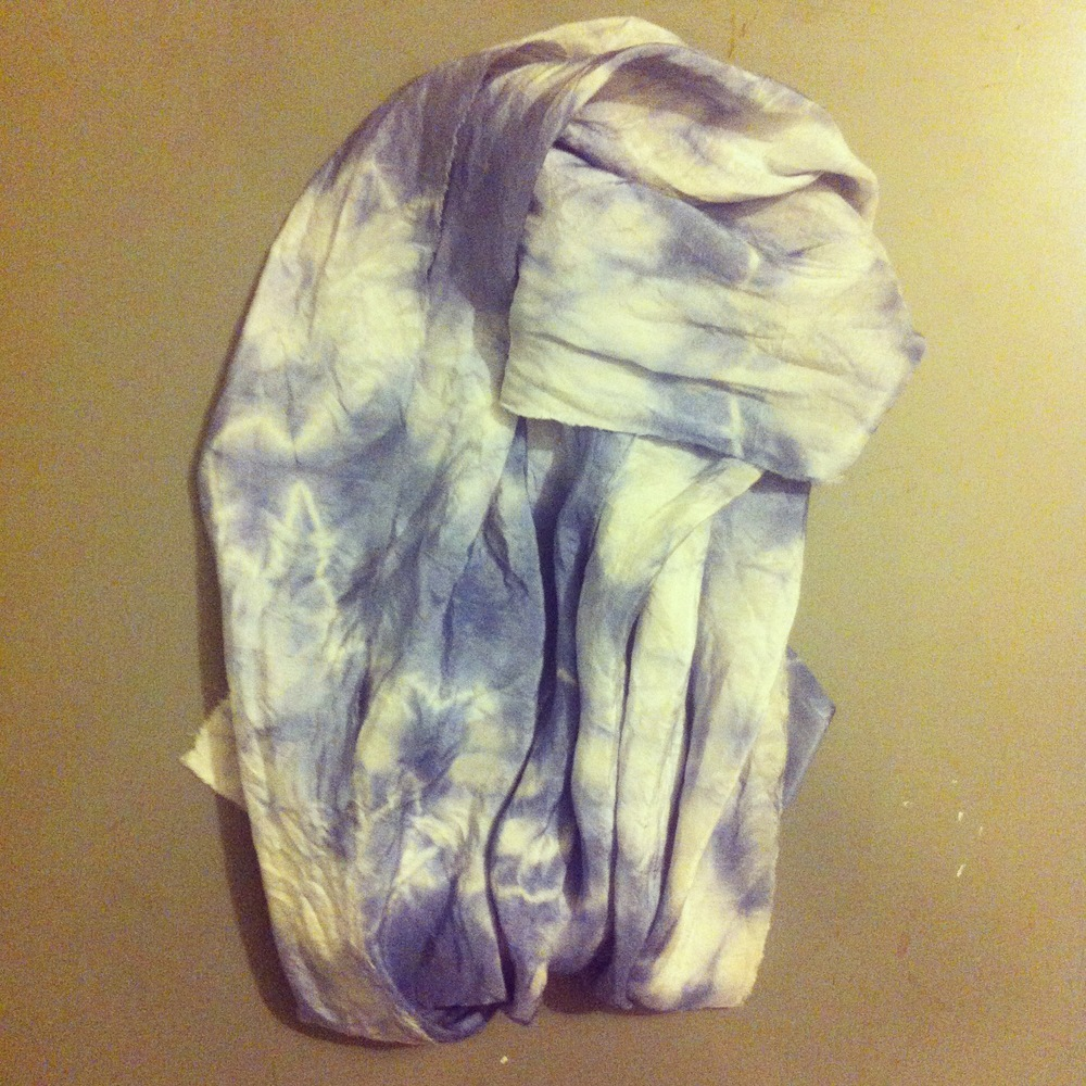 purple basil dyed silk