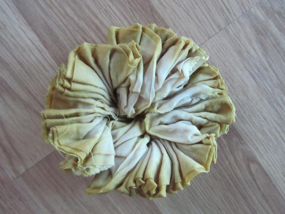 dahlia dyed shibori silk