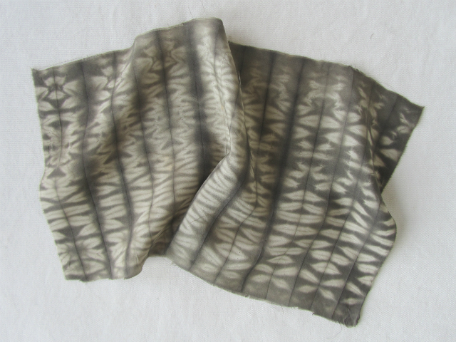 tea & iron shibori dyed silk