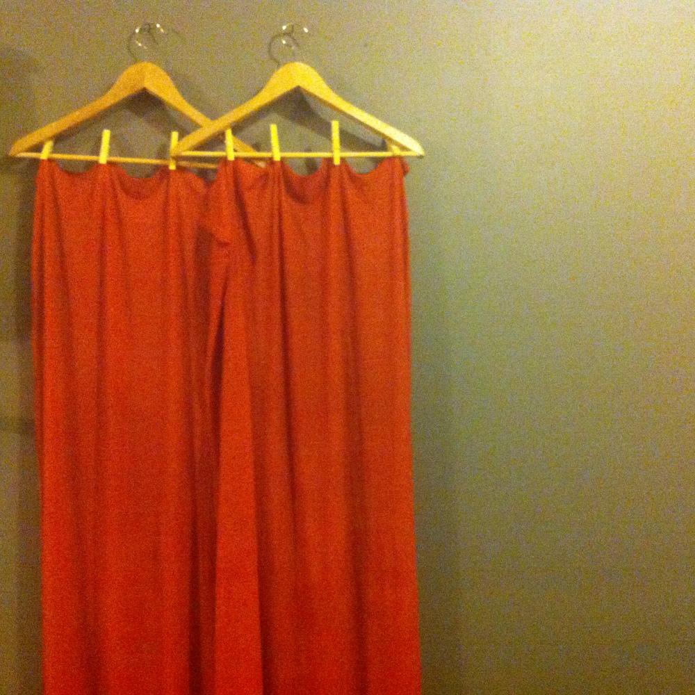 wild staghorn sumac berry dyed ahimsa silk yardage