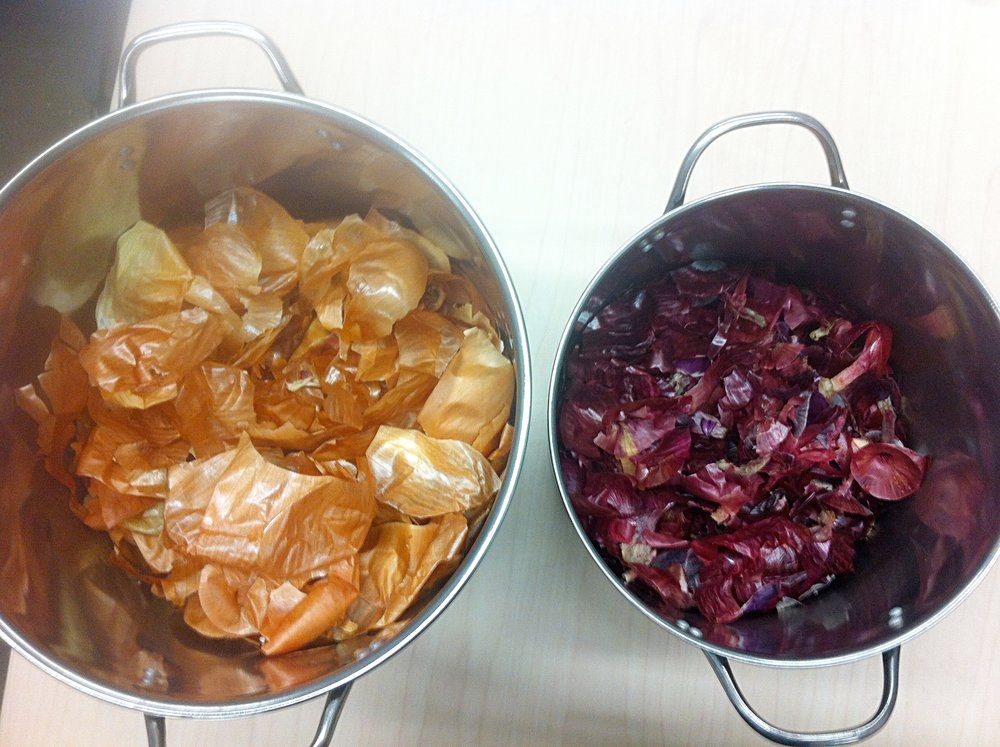 yellow & red onion skins