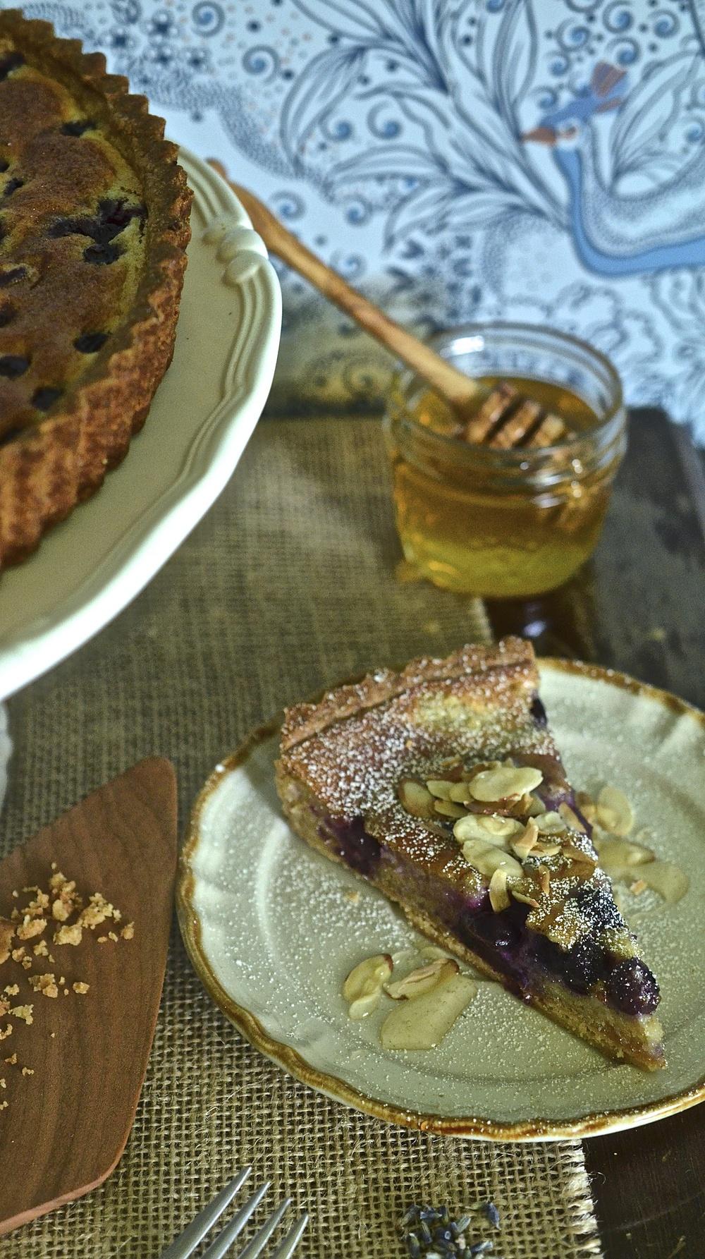 Blueberry lemon and lavenderFrangipane
