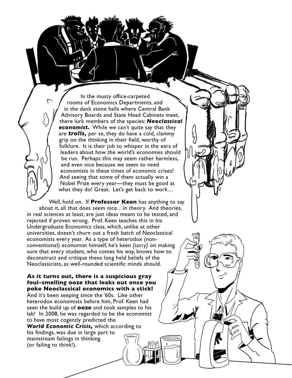 Help create a graphic novel version of Debunking Economics