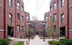 901 W. Cornelia: 31-unit condo conversion in Lakeview, Chicago. Landscaped courtyard building in heart of Wrigleyville.