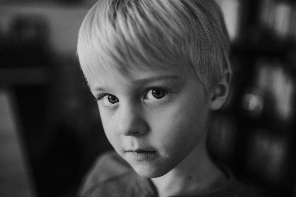 Jan 2: I love these tight shots of my kids staring straight in the camera. The lack of inhibitions of kids is magical.