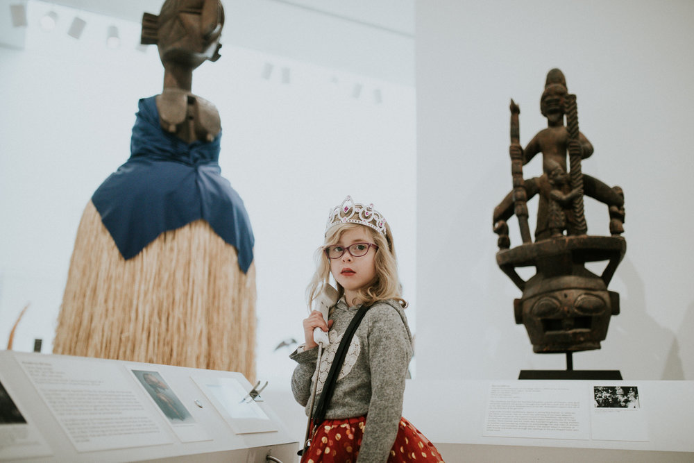 Jan 14: Family trip to the Dallas Museum of Art. The girls specifically asked to see the ancient art and of course Quinn had to dress for the occasion.