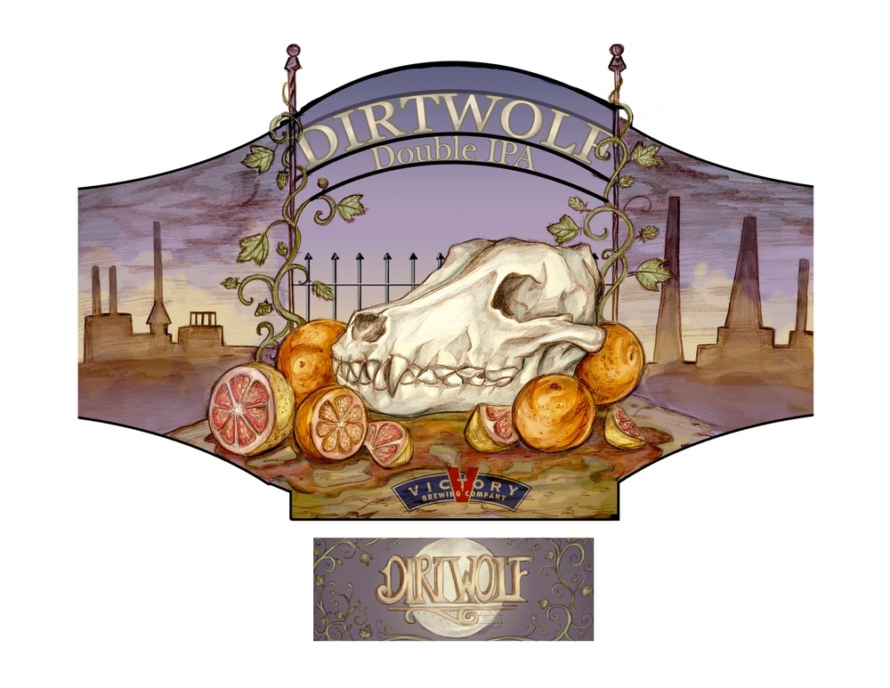 DirtWolf Beer Label