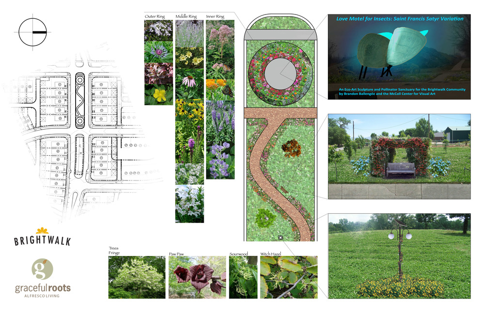 Proposed Native and Pollinator Garden for mixed use community, Brightwalk.