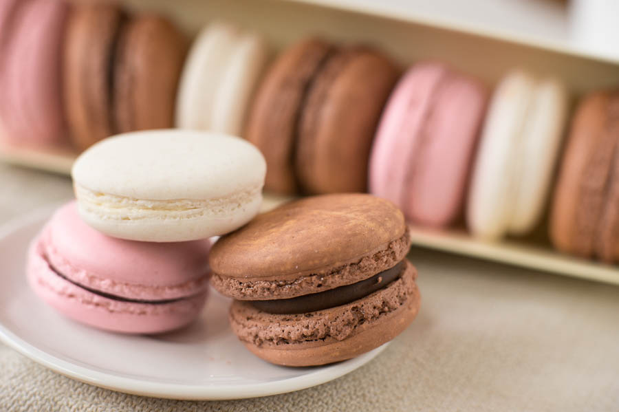 I often alternate between the super healthy (like the bok choy) and the super indulgent, like these french macarons from the  Katella Bakery .