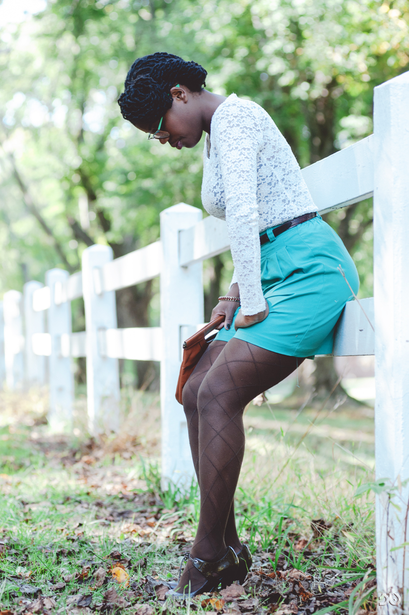 high waist teal shorts_sharlendipity
