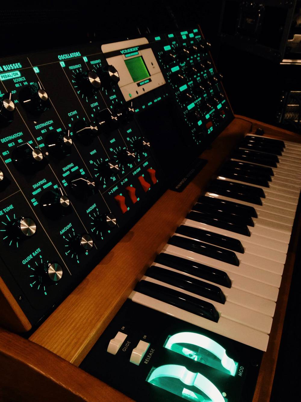 Got mess with the Moog and tons of other vintage equipment..