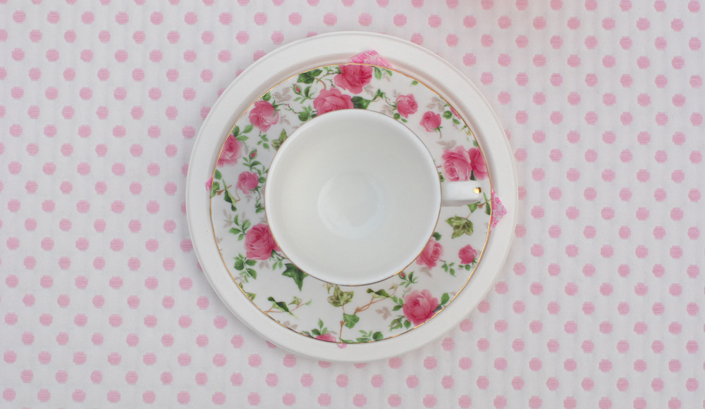 tea cup from above