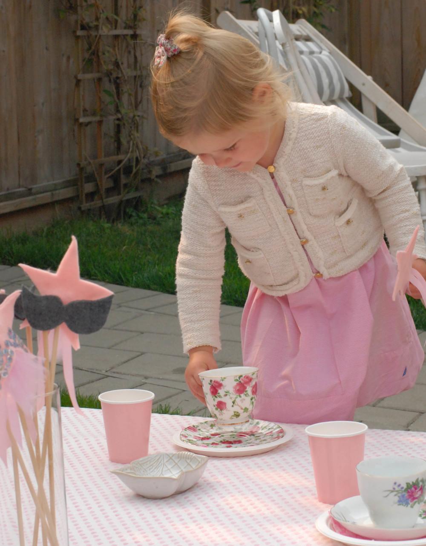 little girl tea