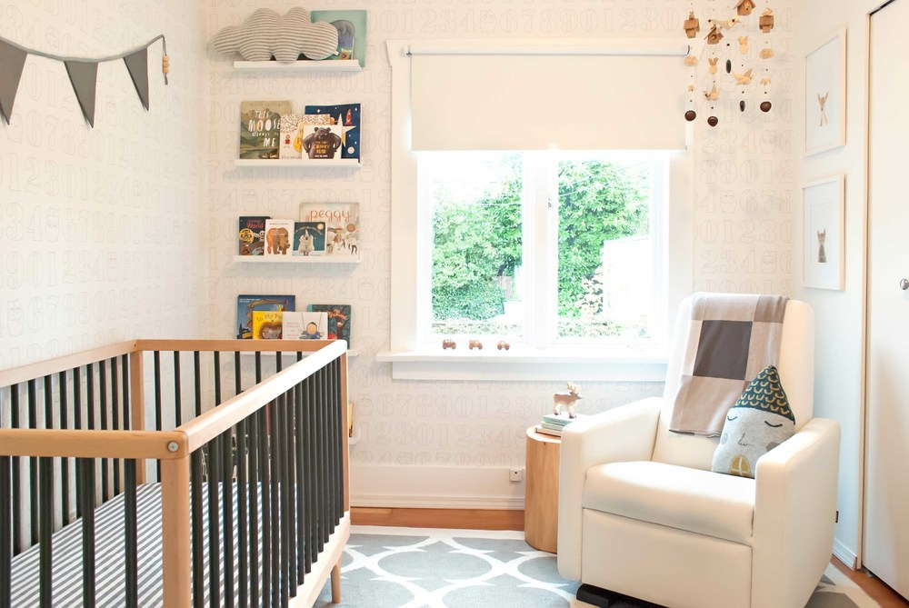 Xavier baby nursery overall room design by WINTER DAISY interiors