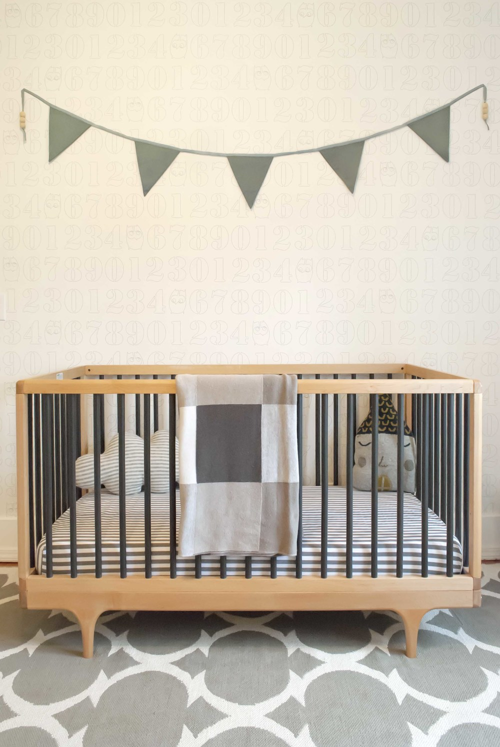 Kalon Studios crib in baby boy nursery