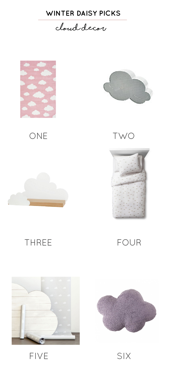 cloud decor for kids rooms