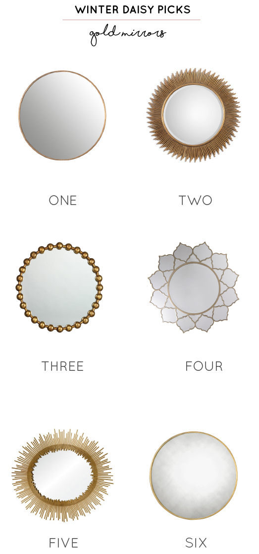 6 statement gold mirrors for a children's room