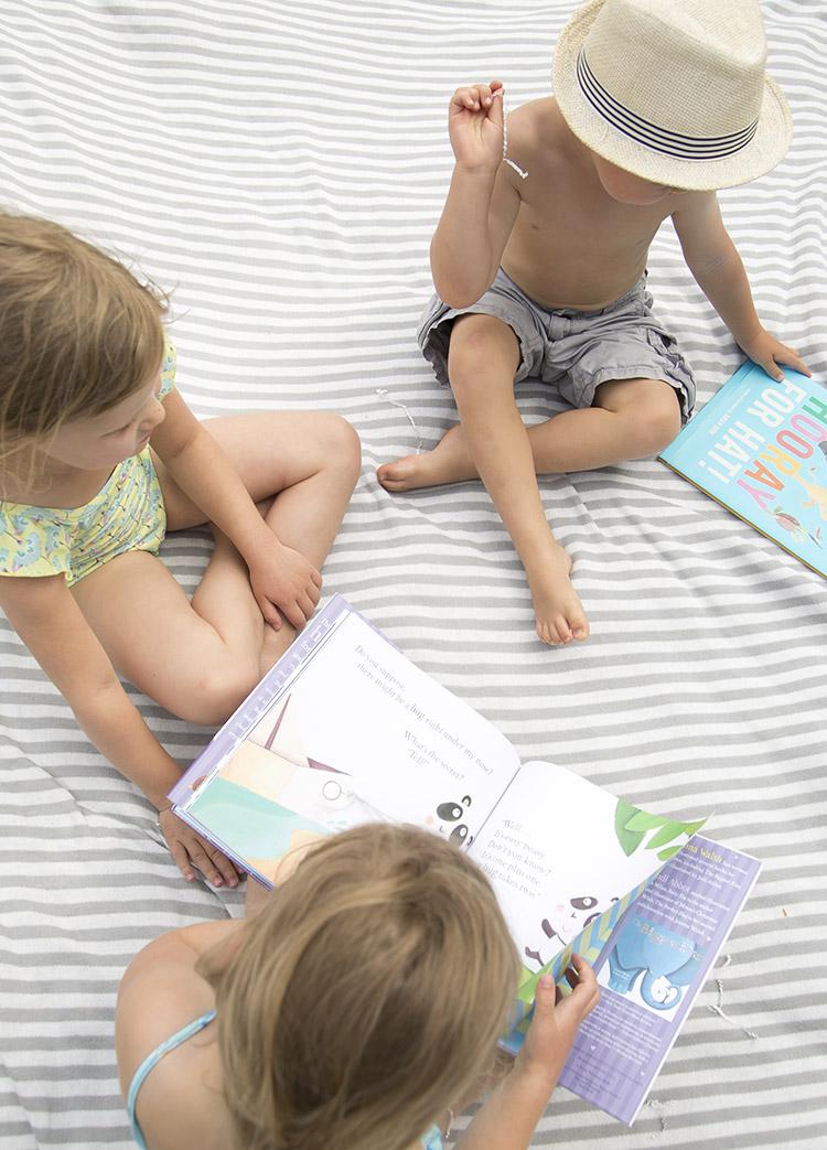 kids enjoying reading books
