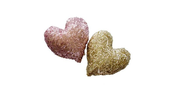 heart sequin pillow