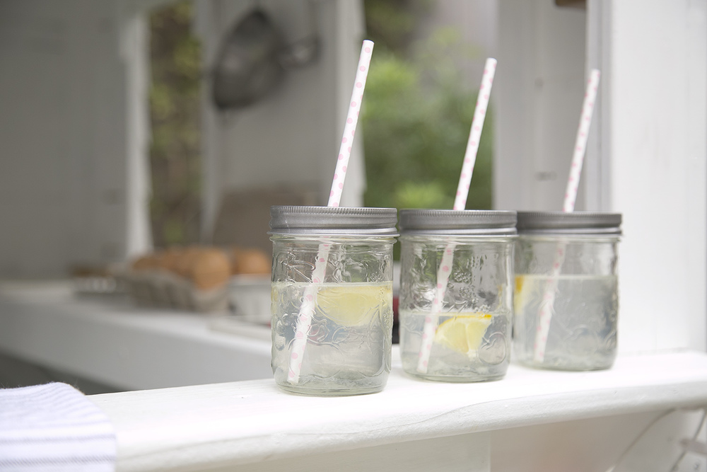 mason jars for kid's lemonade