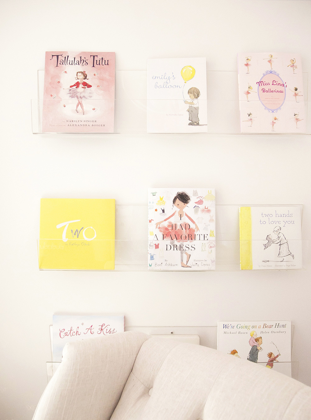 Ubabub booksee bookshelf in baby nursery