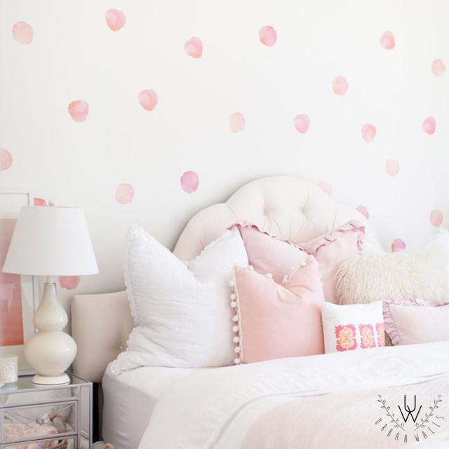 watercolour decals in bedroom