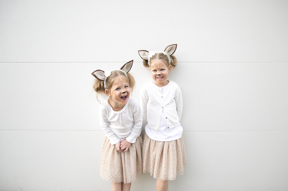 the girls as twin fawns