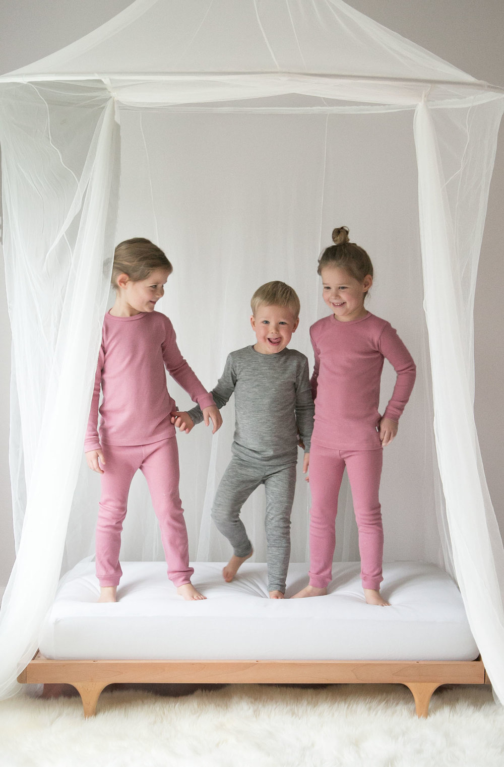 the kids in merino wool pajamas from simply merino