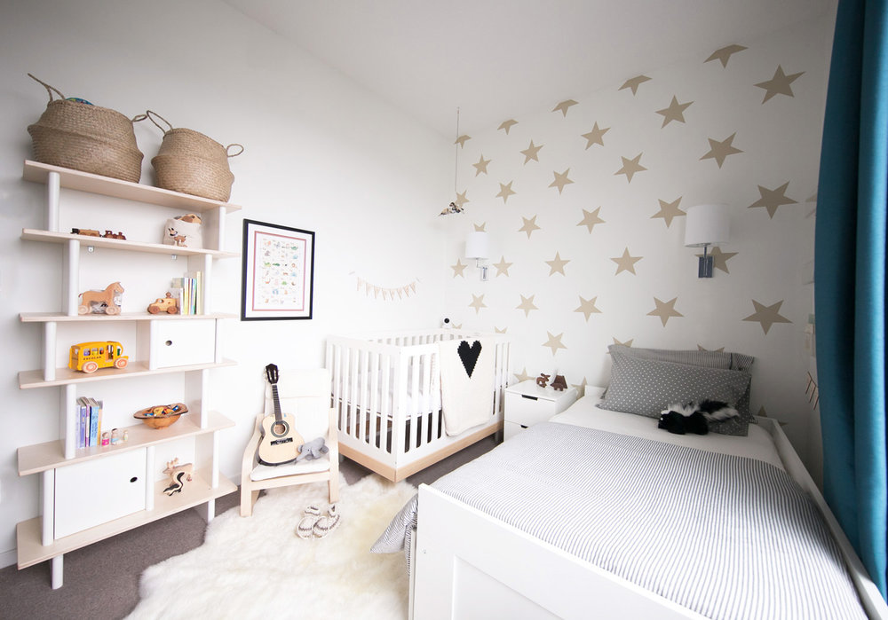 rafa & leo's shared baby and toddler boy room